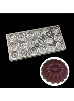 Cake Decor 18 Cavity Screw Sunflowers Chocolate Mold Candy Molds Polycarbonate Chocolate Mold Baking Decorating Tools Gadgets Bakeware