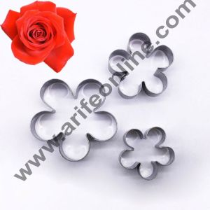 Cake Decor 3 Pcs New Rose Petal Flower Cutter Set Bakeware Mould Biscuit Mould Set Sugar Arts Fondant Cake Decoration Tools