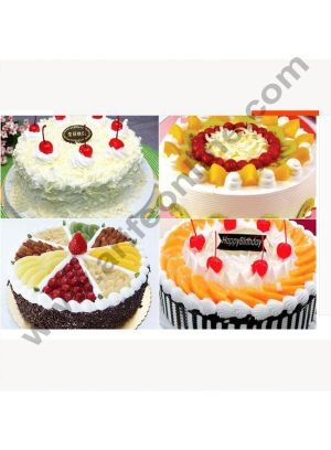Cake Decor Gold Design Flower Print Glossy Corrugated Cake Board Base 10 Inch Diameter for One Kg Cakes- Pack of 10 Pcs