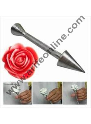 Cake Decor 1Pc Aluminium Alloy Sticks Cone Holder Cake Piping Rod Icing Cream Flower Roses Cake Decoration Baking Pastry Tool