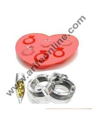 Cake Decor 6 in 1 Ring Ice Tray Chocolate wedding decoration Silicone Mould Fondant Sugar Bow Craft Molds