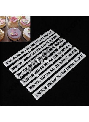 Cake Decor Funky Alphabet Number Cutter Set, Cake Decoration ,4Pcs Alphabet Numbers Tappits Cutter Set