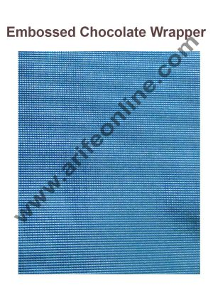 Cake Decor Chocolate Wrappering Foil, Embossed Chocolate Wrapper, 200 Sheets - 10in x 7in - Coral Blue