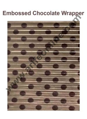 Cake Decor Chocolate Wrappering Foil, Embossed Chocolate Wrapper, 200 Sheets - 10in x 7in - Dotted Light Brown and Brown