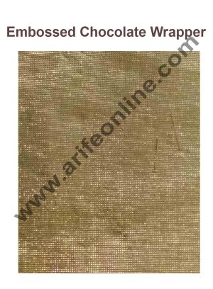 Cake Decor Chocolate Wrappering Foil, Embossed Chocolate Wrapper, 200 Sheets - 10in x 7in - Gold
