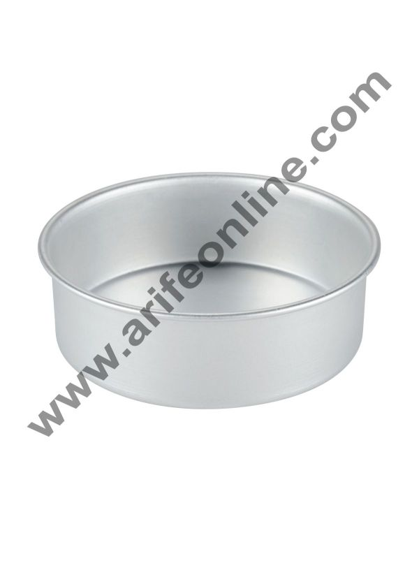 Cake Decor Round Aluminum Cake Mould Thali 7in x 2in 1