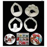 Cake Decor 4 Pc Dog Paw House Plastic Fondant Cutter Gumpaste Cutter