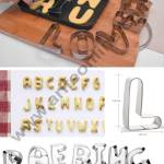 26 Pc Jumbo Alphabet Cookie Cutter