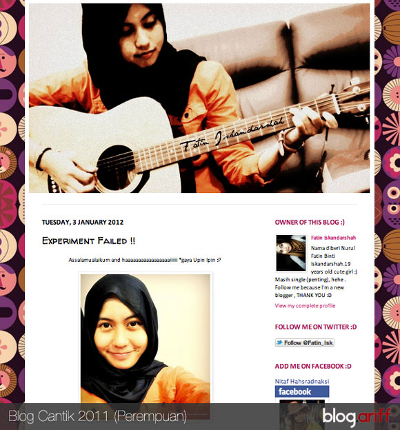 blog fatin iskandarshah