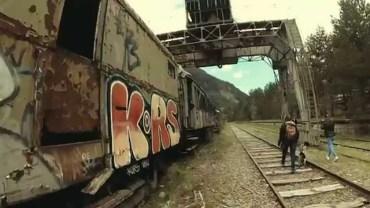 EI Canfranc 8 - Tren i grua abandonats