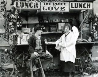Screenshot from The Kid (original cut from 1921) - Dreamland scenes (2)