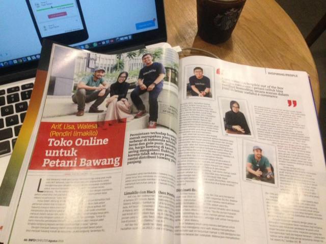Limakilo di Majalah InfoKomputer edisi Agustus 2016
