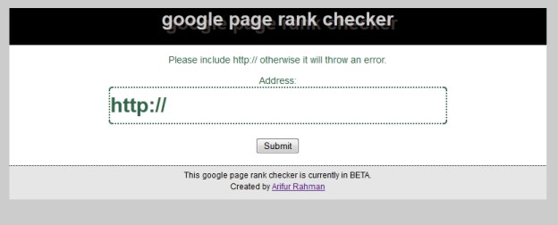 Google Page Rank Checker