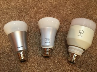 Left to right: Old Hue, New Hue, LIFX Color