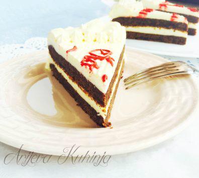 Brownie mascarpone torta