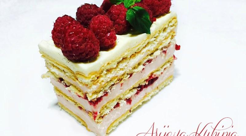 keks kolač sa malinama