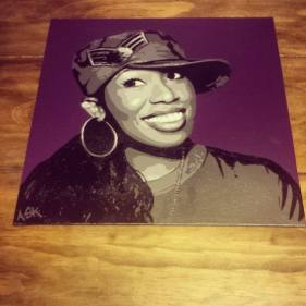 "Missy Elliott Commission - 12"" x12"""