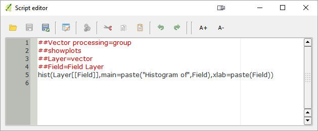 QGIS Script Editor