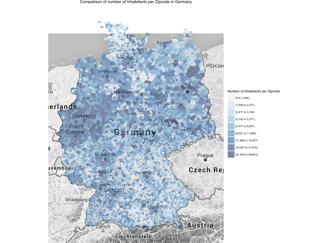 Case Study: Mapping German ZIP Codes in R - AriLamstein com