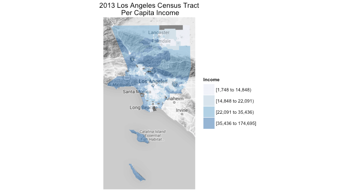 Combining Choropleth Maps and Reference Maps in R