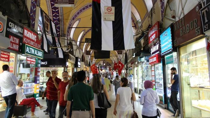 Inside Grand Bazaar of Istanbul.