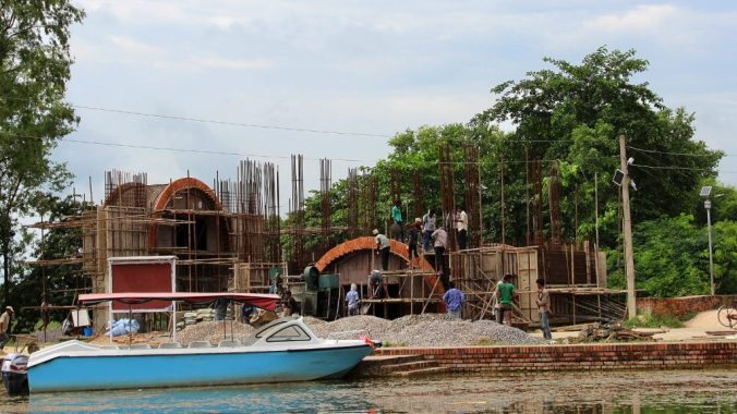 A lot of new monasteries are quickly appearing in Lumbini Development Zone.