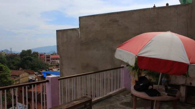 A roof top terrace in Tansen, Nepal
