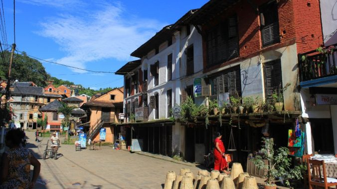 Bandipur Bazaar, Nepal. There are no cars on the Bandipur Bazaar, which makes it very peaceful.