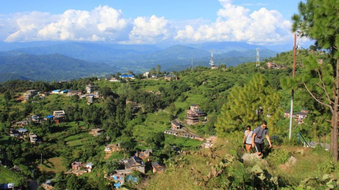 Climbing to Thani Mai temple in Bandipur, Nepal. Another great viewpoint.