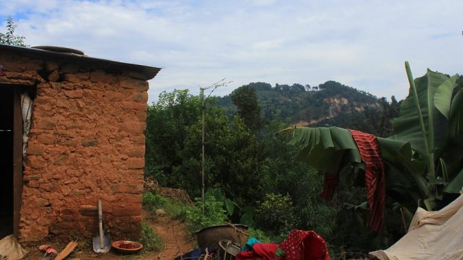 My friend's home in a rural village.