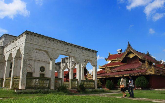 Mandalay Palace in Myanmar.