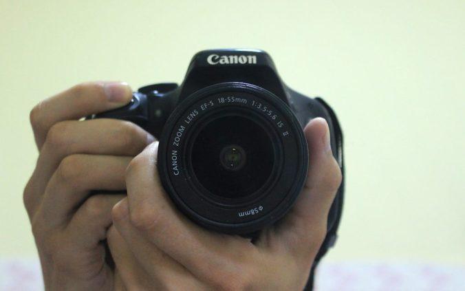 Canon 600D mirror image.
