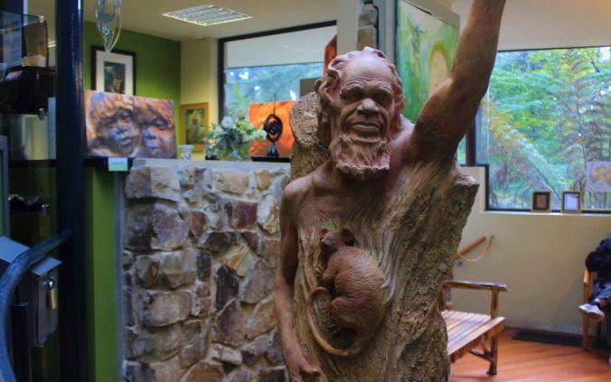 The info center of William Ricketts Sanctuary includes a tiny souvenir shop.
