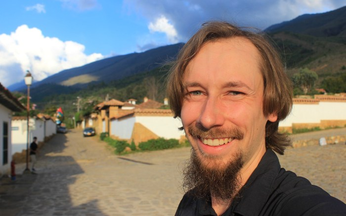 Do I look German? A selfie in Villa de Leyva, Colombia.
