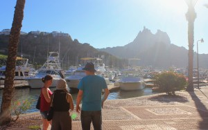 San Carlos Waterfront, Sonora, Mexico. Traveling through Mexico on public transport.
