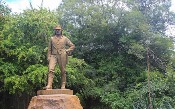 David Livingstone statue in Victoria falls, Zimbabwe
