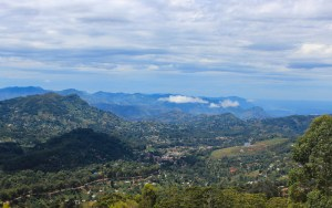 View from the rain forest of Lushoto, Tanzania.