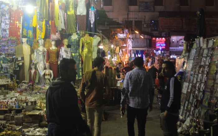 Visiting the markets of Cairo Old Town. Visiting Cairo in 2018, 2019.