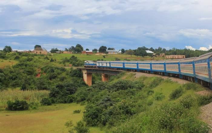 TAZARA train from Zambia to Tanzania