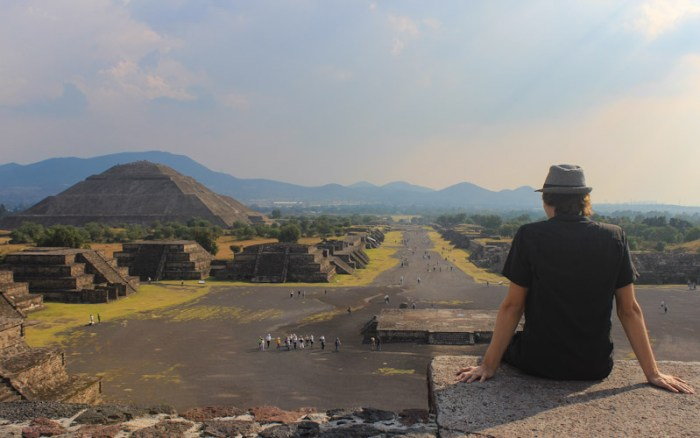 Teotihuacan viewpoint on top of PYramid of the Moon