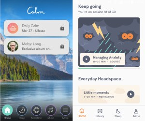 A comparsion between Headspace vs Calm to popular mindfulness meditation apps.