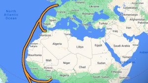 Traveling Europe to Africa on a freighter