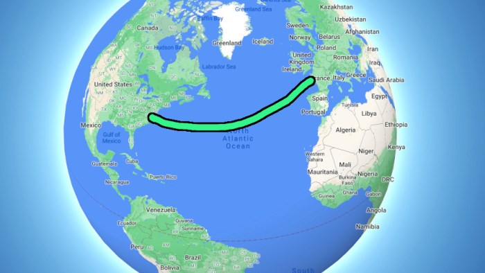 Europe to USA on a freighter