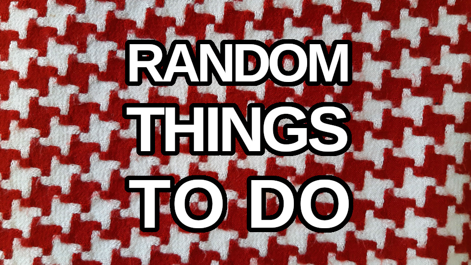 Random things to do at home generator