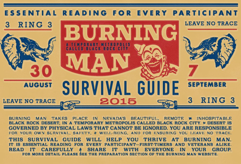 Burning Man Survival Guide print periodical design