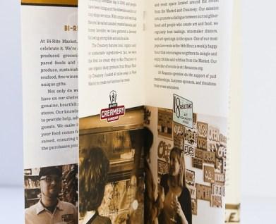 brochure design, high end grocery