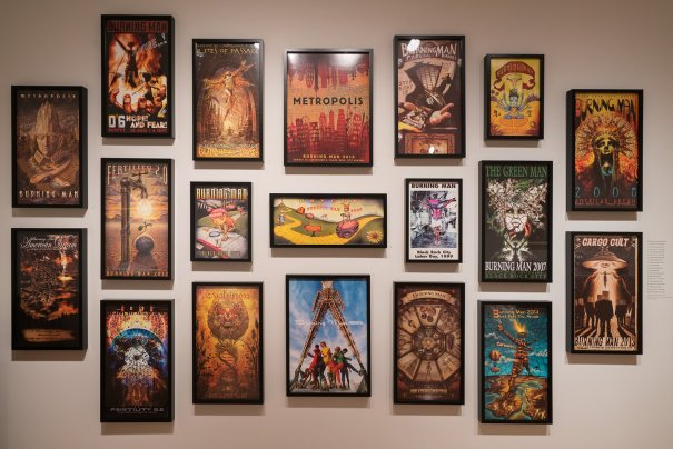 burning man poster art in the Renwick Gallery
