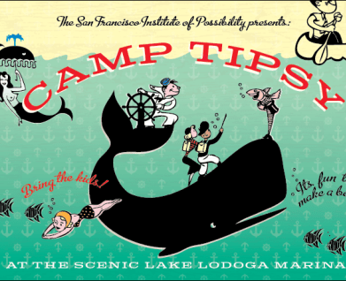 Camp Tipsy Flier, illustration design