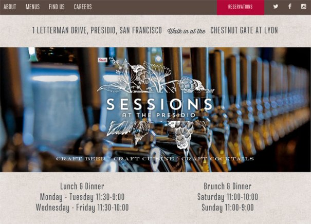 Sessions at the Presidio