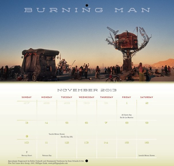 arin fishkin graphic design's Burning Man Calendar